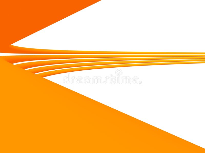 Flujo anaranjado ilustración del vector