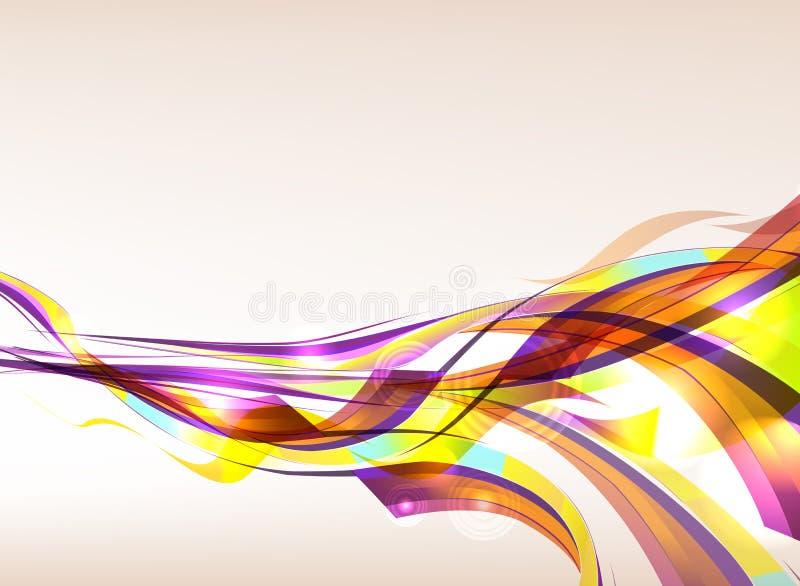 Flujo colorido abstracto del fondo ilustración del vector