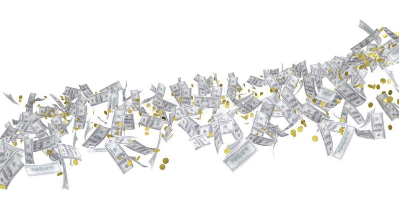 Flujo de dinero. Dólar ilustración del vector