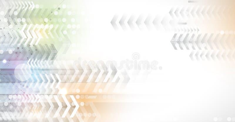 Flujo de flechas Imaginación del proceso del negocio o de la tecnología libre illustration