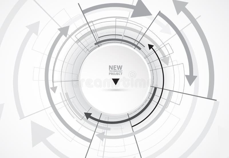 Flujo de flechas Imaginación del proceso del negocio o de la tecnología stock de ilustración