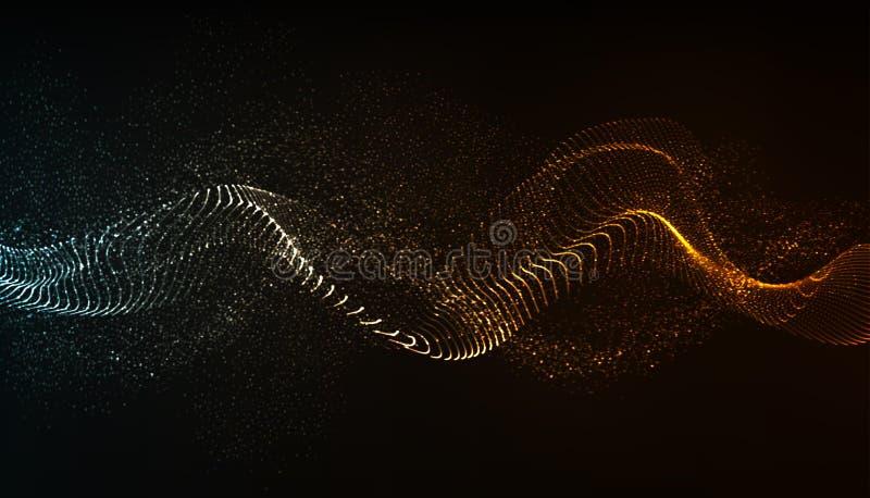 Flujo de la partícula del vector ilustración del vector