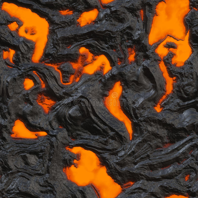 Flujo de lava ilustración del vector