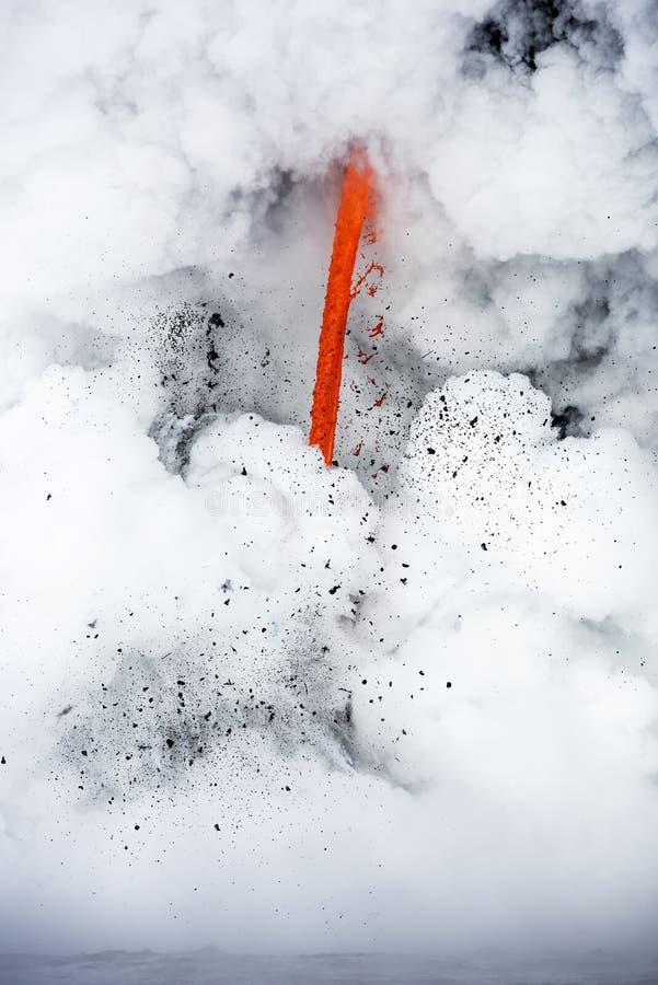 Flujo de lava en Hawaii imagen de archivo