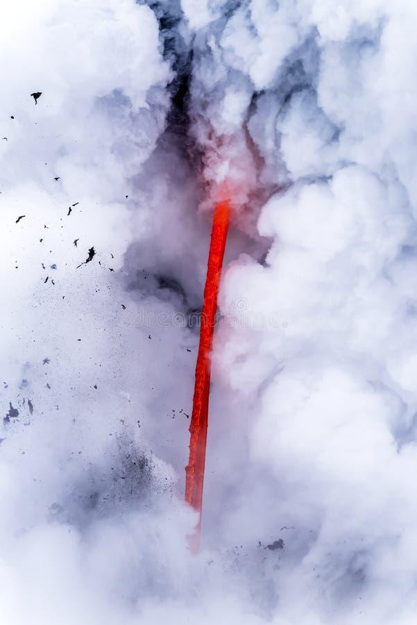 Flujo de lava en Hawaii foto de archivo