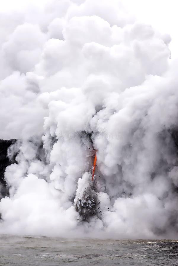 Flujo de lava en Hawaii fotos de archivo libres de regalías