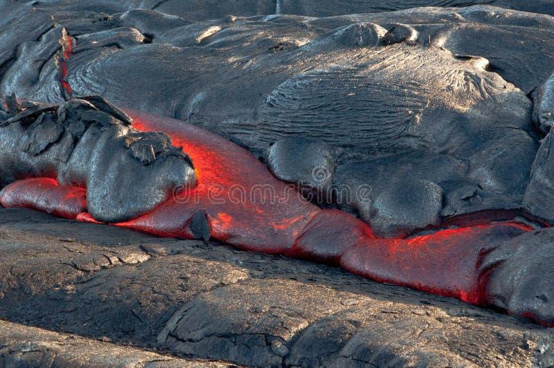 Flujo de lava rojo imagen de archivo libre de regalías