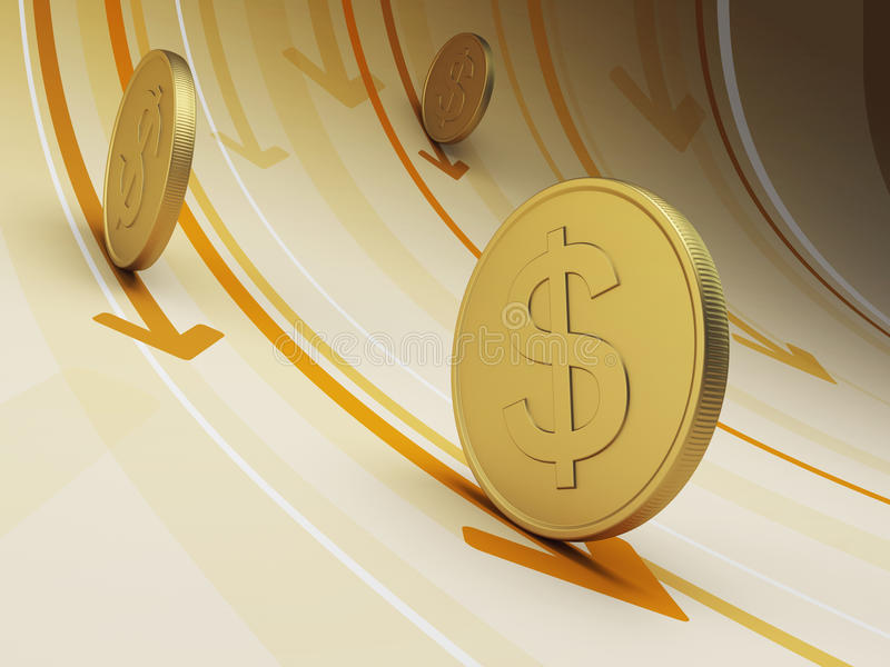 Flujo de liquidez stock de ilustración