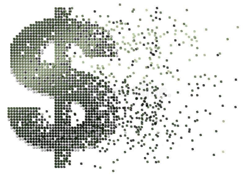 Flujo de liquidez del dólar ilustración del vector