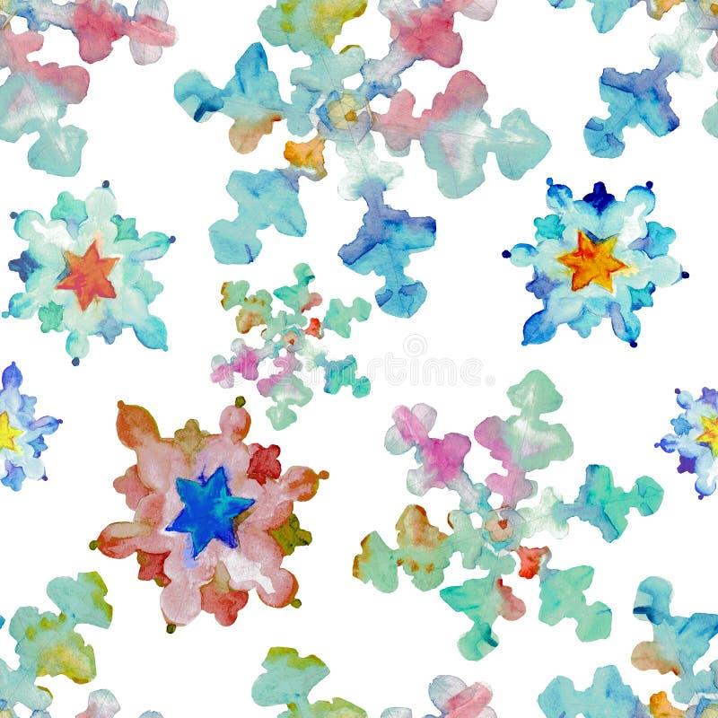 Flujo de los colores del copo de nieve del caleidoscopio stock de ilustración