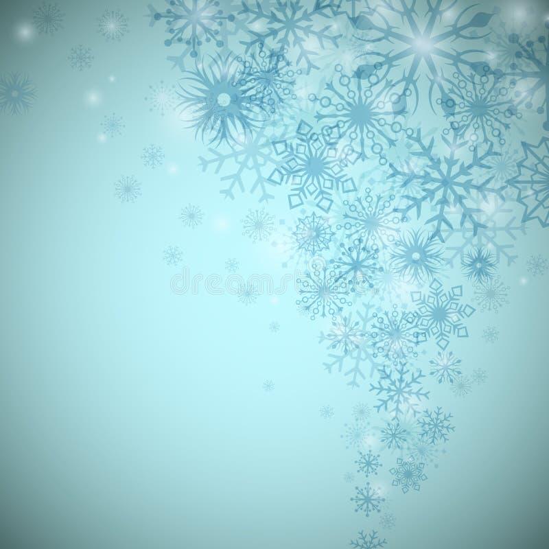 Flujo del copo de nieve de la Navidad libre illustration
