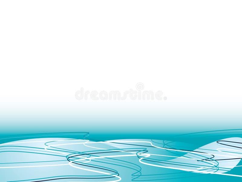 Flujo del océano ilustración del vector