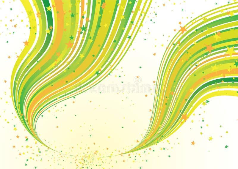 Flujo del verde del caramelo ilustración del vector