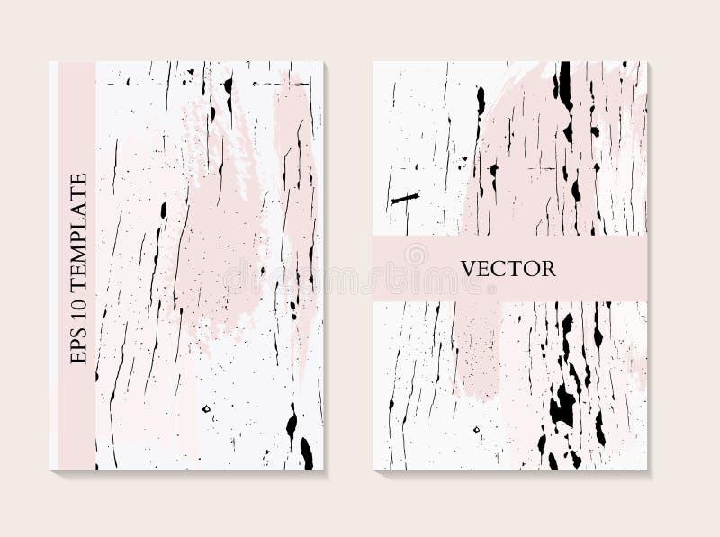 Flujo líquido de mármol en colores monocromáticos rosados Dise?o fl?ido para el fondo, presentaci?n, cubierta, t?tulo, arte del p libre illustration