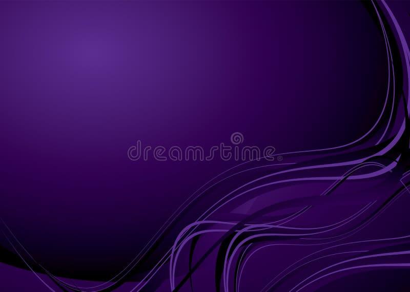 Flujo púrpura de la onda stock de ilustración