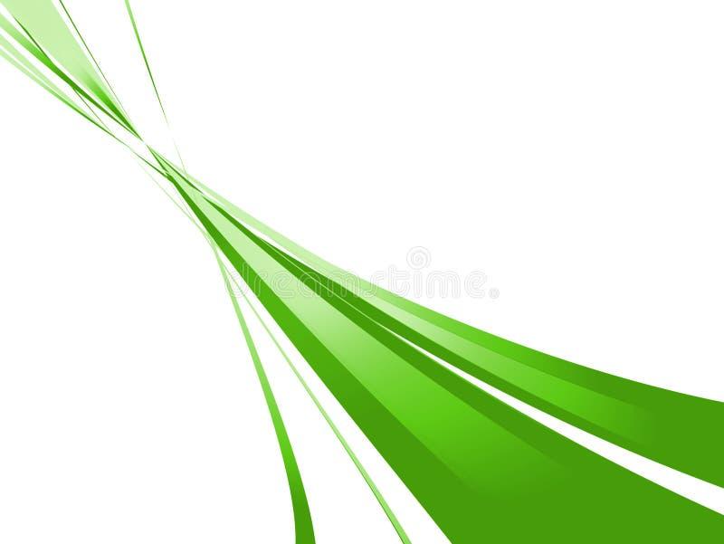 Flujo verde ilustración del vector