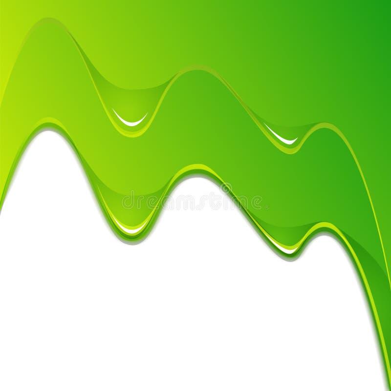 Flujo verde de la pintura ilustración del vector
