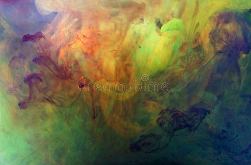 Flujo vibrante intenso del color fotografía de archivo