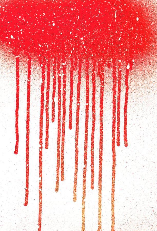 Flujos de sangre Gota de Abstact Lluvia de la pintura de la nieve Arte de goteo abstracto del aerosol de la pintura con el lugar  ilustración del vector