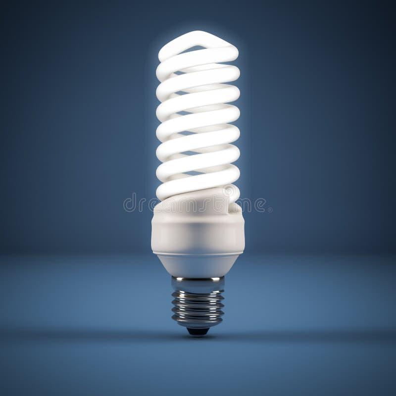 Fluorescencyjna lampa royalty ilustracja