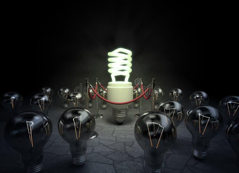 fluorescencyjny żarówki światło royalty ilustracja