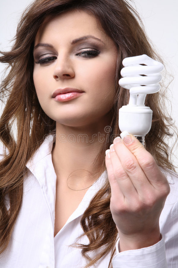 Fluorescent bulb. royalty free stock photos