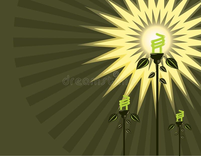 Fluorescent bulb background stock illustration