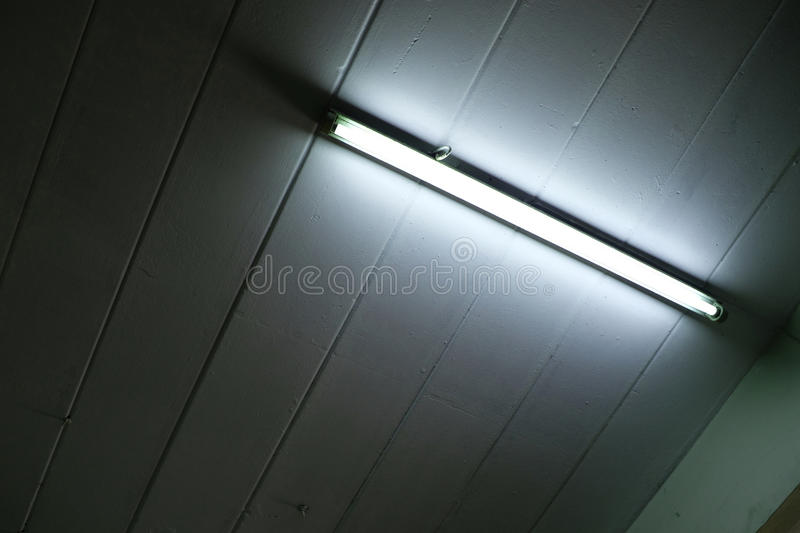 Fluorescent ceiling lamp royalty free stock photography