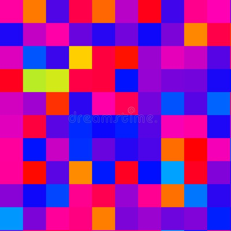 Fluorescent  coloured pixel squares. Blue flourescent fluorescent coloured pixel squares     fun design bright royalty free stock photography
