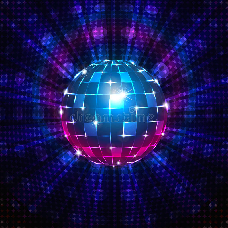 Free Fluorescent Disco Ball Stock Photography - 35431852