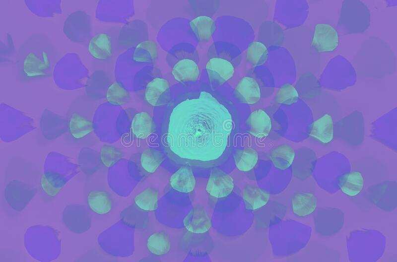 Fluorescent flowers on a light pink background. Fluorescent  flowers and petals on a  light pink  background top view stock photo
