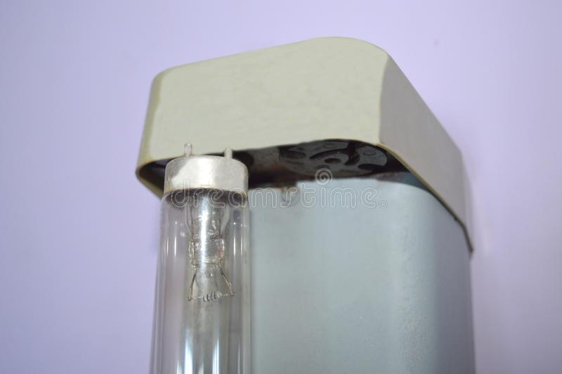 The fluorescent or germicidal ozone lamp. UV Ozone Quartz lamps 25W ultraviolet germicidal lights uv lamp for home E27 ultraviolets terilization lamp royalty free stock photography