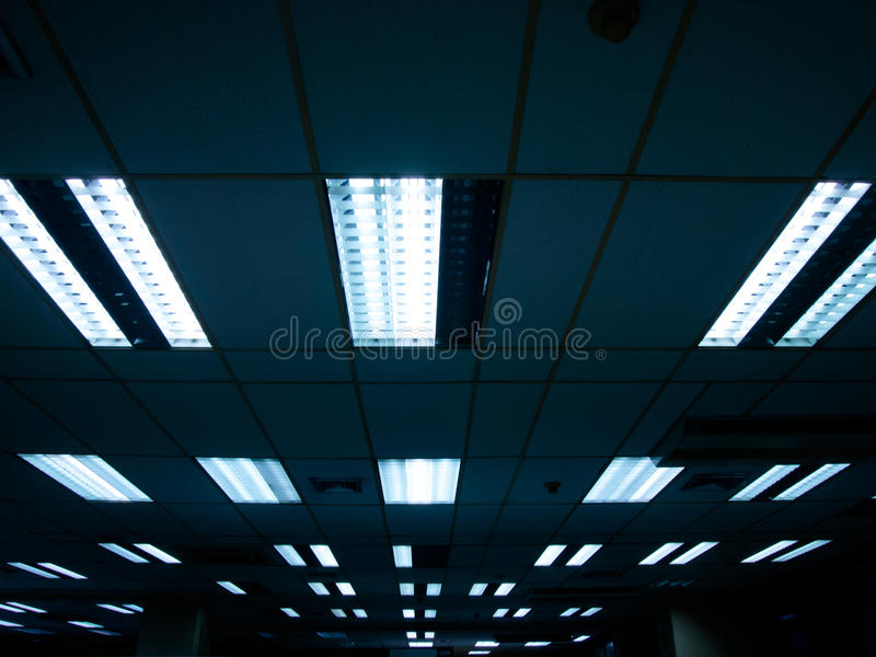 Fluorescent lamp. Abstract light background line of fluorescent lamp stock photo