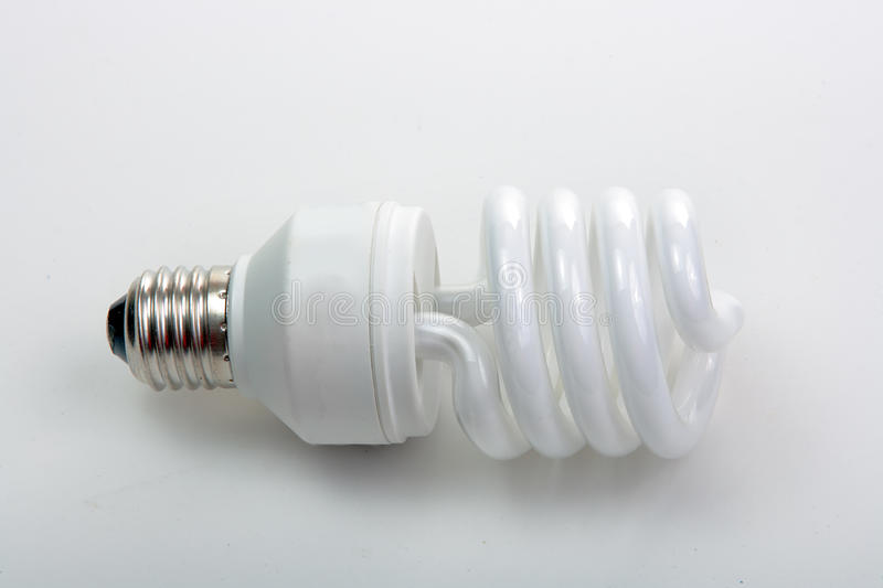Fluorescent lamp bulb. On isolated background stock photography