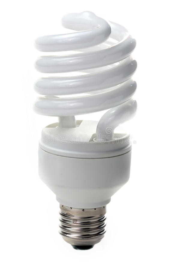 Fluorescent lamp bulb. On isolated background stock photo