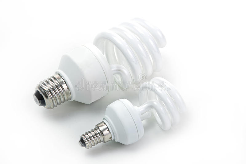 Fluorescent lamp bulb. On isolated background stock photos