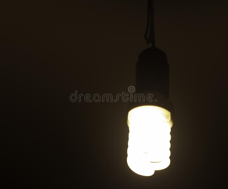 Fluorescent lamp. In the dark royalty free stock images