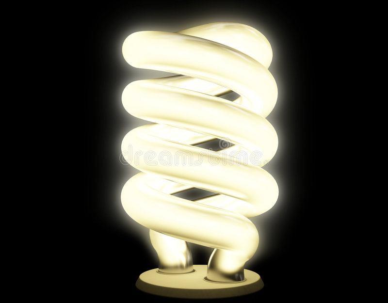 Download Fluorescent Lamp With Soft Luminescence Stock Illustration - Image: 8718385