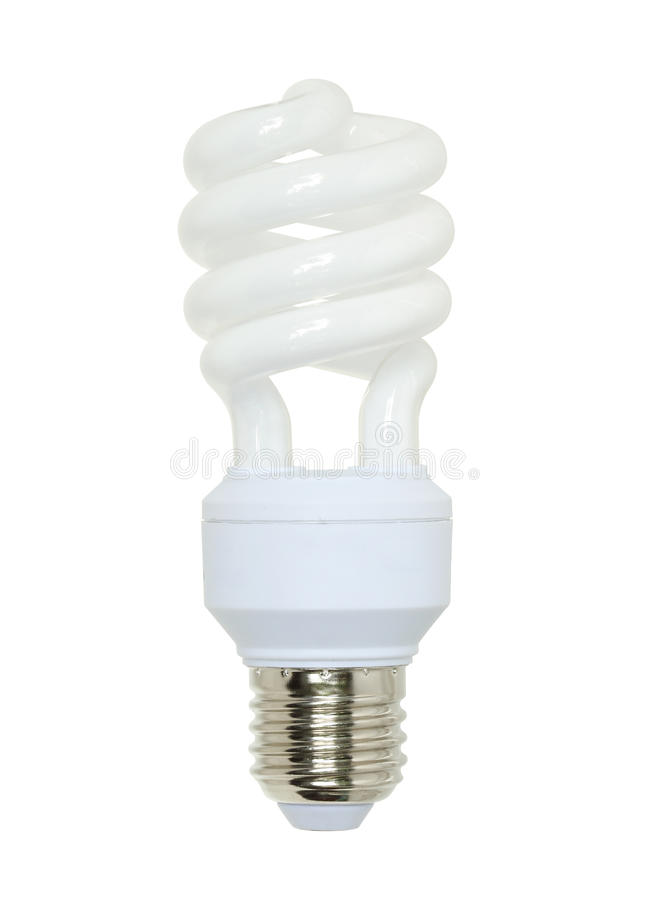 Fluorescent lamp. On white background royalty free stock photography
