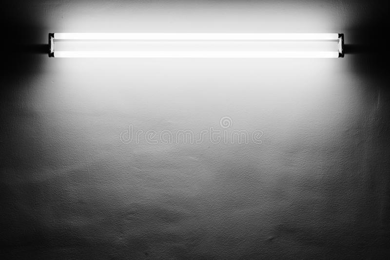 Fluorescent light. Tube on the wall royalty free stock images