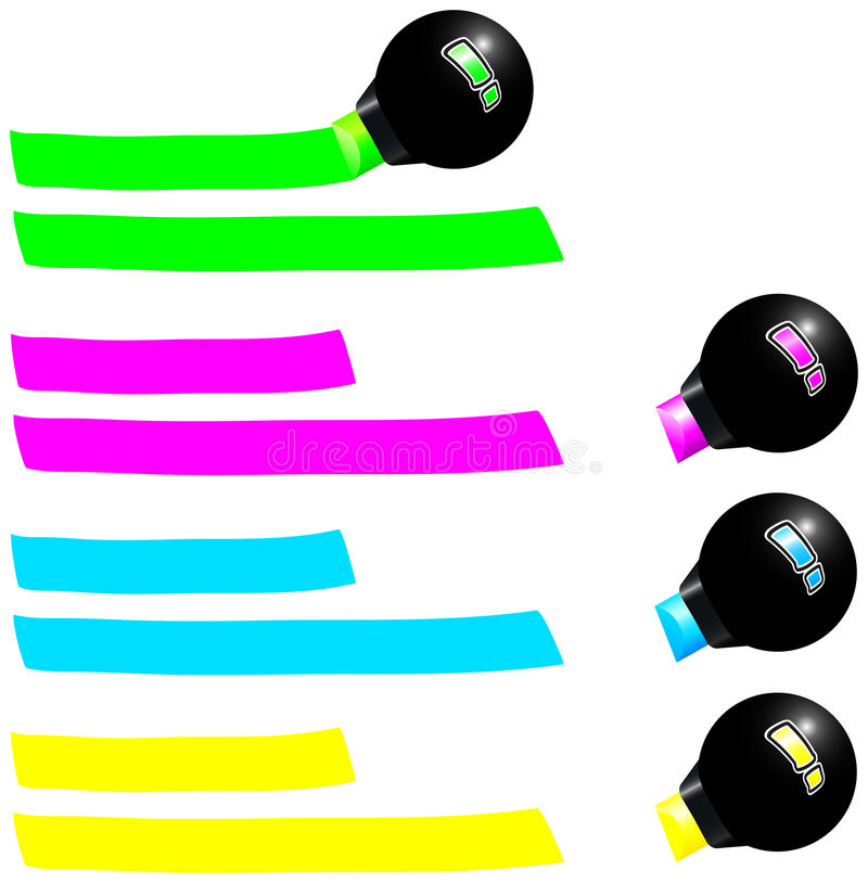 Free Fluorescent Marker Royalty Free Stock Image - 33031386