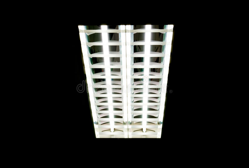 Fluorescent tube. White fluorescent tube in office royalty free stock photography