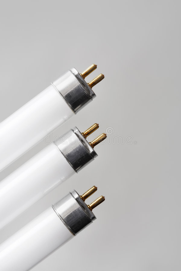 Fluorescent tubes royalty free stock photo