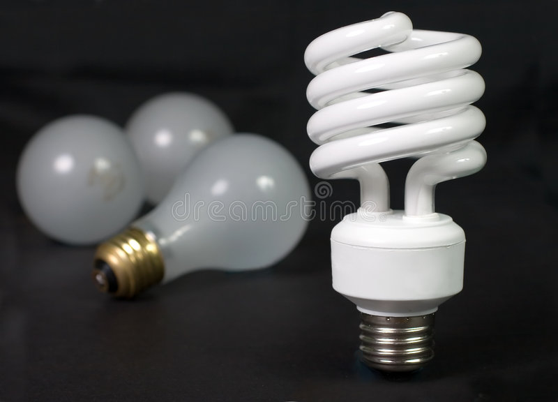 Fluorescente com Incandescent foto de stock