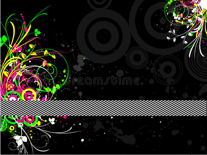 Fluorescente grunge vector illustratie