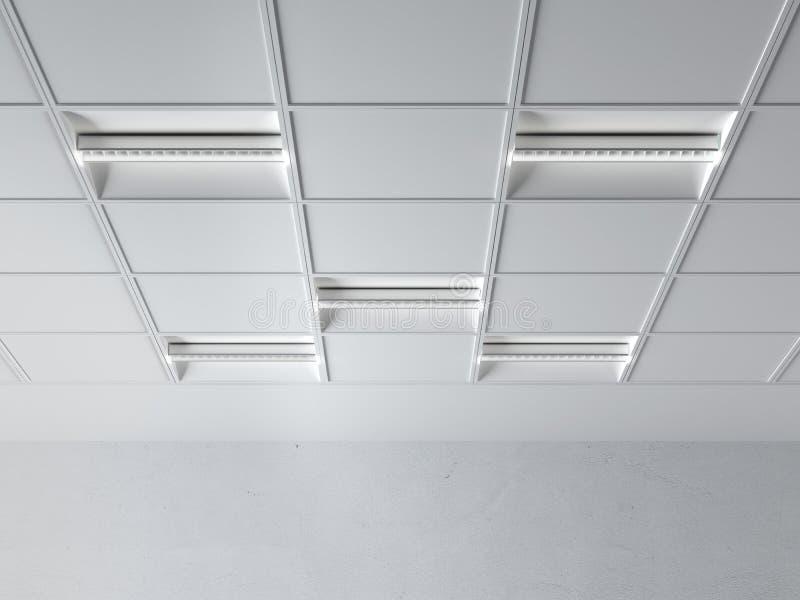 Fluorescente lamp op het plafond royalty-vrije stock fotografie