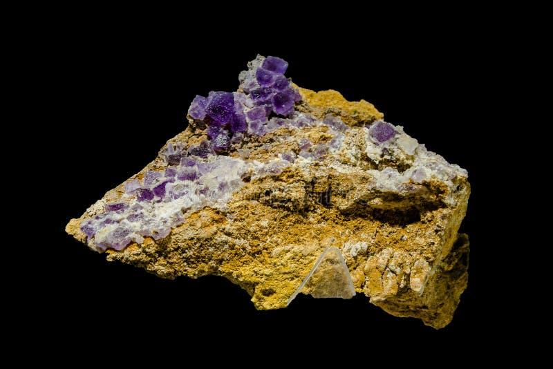 Fluorite con il minerale di piombo fotografia stock libera da diritti