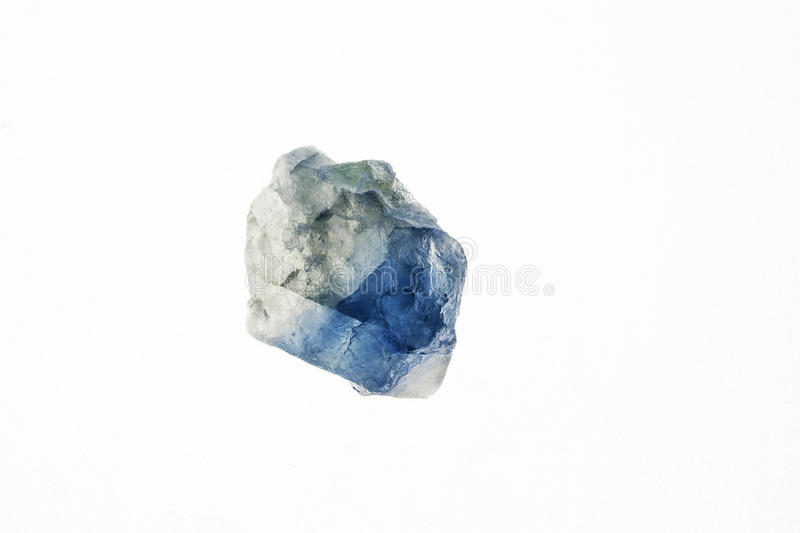 Fluorite crystal. Fluorite is a transparent or translucent stone, with a unique color spectrum, which is no longer found on the basis of diversity on our planet stock photography