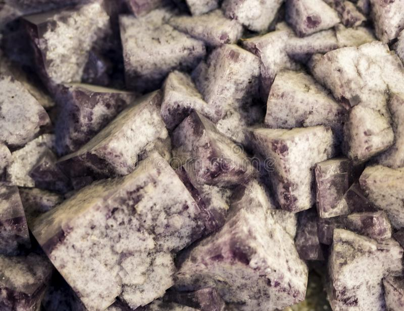 Fluorite mineral stock image