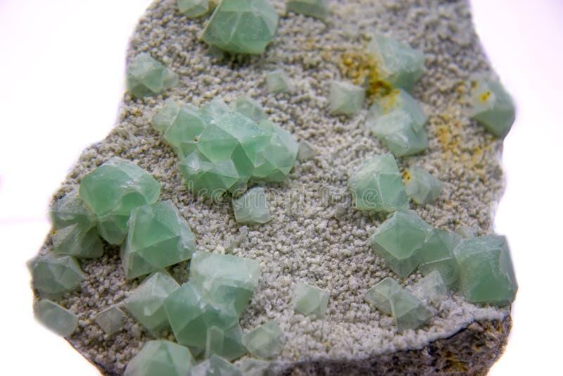 Green fluorite mineral stock image